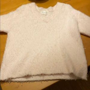 Baby pink Anthropologie sweater
